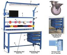 5,000 LB. CAPACITY KENNEDY SERIES WORKBENCHES - WITH BUTCHER BLOCK TOP